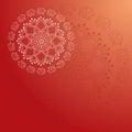 Red Round Elephant Mandala Card