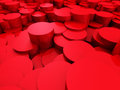 Red Round Shapes Design Wallpaper Background Royalty Free Stock Photo