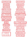 Red Rubber Stamp Set 01 Royalty Free Stock Photo