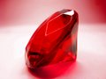 Red ruby gem stone crystal on white background Stock Photos