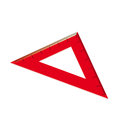 Red ruler in the form of a triangle. Vector illustration Royalty Free Stock Photography