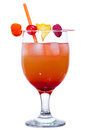 Red Rum Swizzle Stock Photo