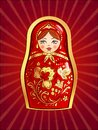Red russian doll vector illustration eps Royalty Free Stock Image