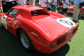 Red s ferrari racer classic lm le mans racecar number cavallino concorso in south florida Stock Image