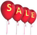 Red sale balloons Royalty Free Stock Images