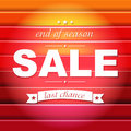 Red sale poster with text gradient mesh vector illustration Royalty Free Stock Images