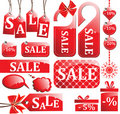 Red sale set Royalty Free Stock Photo