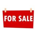 Red For Sale Sign - illustration
