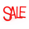 Red sale word on white d illustration Royalty Free Stock Photography