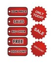 Red Sales Tags Royalty Free Stock Photo