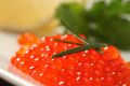 Red salmon caviar Royalty Free Stock Photo