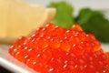 Red salmon caviar Royalty Free Stock Photo