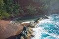 Red Sand Beach Landscape Hana, Maui Royalty Free Stock Photo