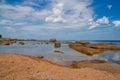 Red sand at Bornholm, Denmark Royalty Free Stock Photo