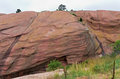 Red Sandstone Monolith at Red Rocks Royalty Free Stock Photo