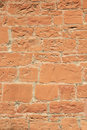 Red sandstone wall Royalty Free Stock Photos
