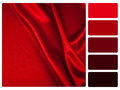 Red satin colour palette swatch Royalty Free Stock Photo