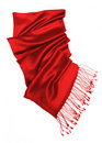 Red scarf isolated on white Stock Photography
