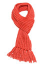 Red scarf textile isolated on white background Royalty Free Stock Photo