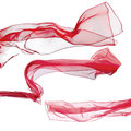 Red scarf on white background isolated a Stock Images