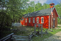 Red schoolhouse Royalty Free Stock Photo