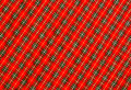 Red scott fabric clos up background Royalty Free Stock Photography