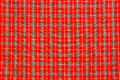 Red scott fabric clos up background Stock Photography