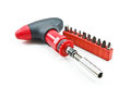 Red screwdriver set Stock Image