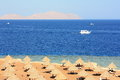 Red sea coast opposite the island of tiran Royalty Free Stock Photography