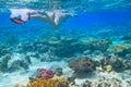 Red Sea snorkeling Stock Photos