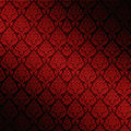 Red Seamless Damask Royalty Free Stock Images