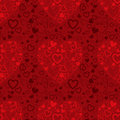 Red seamless pattern with hearts Royalty Free Stock Photography