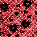 Red seamless pattern for Valentine's Day Stock Photos