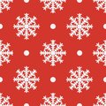 Red seamless snowflake pattern. Vector illustratiom EPS10