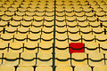 Red seat in Yellow Seat Royalty Free Stock Image