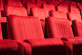 Red seats Royalty Free Stock Images