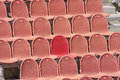 Red seats in the amphitheatre Royalty Free Stock Image