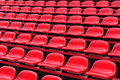 Red seats in a stadium Stock Images