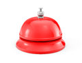 Red service bell ring on a white background Stock Photos