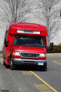 Red Service Van Stock Photography
