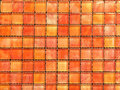 Red shade mosaic tiles background for bathroom interior Stock Photos