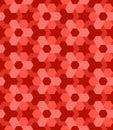 Red shades vogue decorative seamless geometric pattern