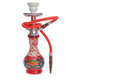 Red sheesha an ornate syrian or hooka water pipe Stock Photos
