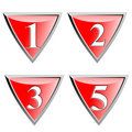 Red shield with numbers Royalty Free Stock Images