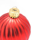 Red Shiny Christmas Ornament Royalty Free Stock Photography