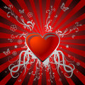 Red shiny  heart Royalty Free Stock Photo
