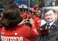 Red Shirt Protest - Bangkok Stock Photography