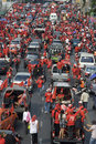 Red Shirt Protest - Bangkok Stock Images