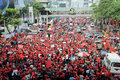 Red-Shirt Protest in Central Bangkok Royalty Free Stock Images