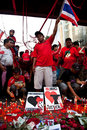 Red shirts protest in Bangkok Royalty Free Stock Photos